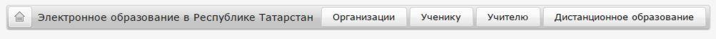 Основное меню электронного образования в Республике Татарстан