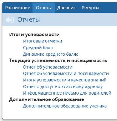 Отчёты на sgo71 ru