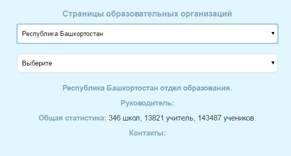 Страницы образовательный организаций на school ufanet ru