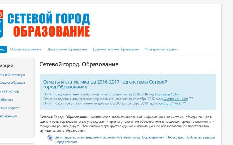 Главная страница Сетевой город Чебоксары. Образование